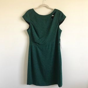 Kay Unger | NWT Green Cap Sleeve Sheath Dress 16